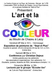 L'ART et la couleur, je participe à cet expo de la groupe les 7+