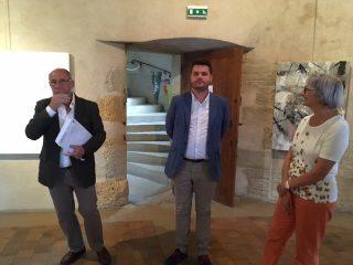 Monsieur le Maire Pierre Berthier et ses adjoints le 1.08.2017 au vernissage de l'exposition'L'âme des animaux au Couvent des Clarisses de Charolles