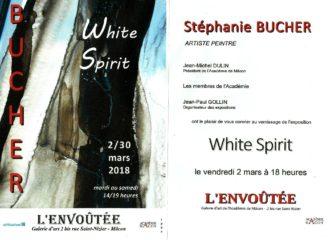 Mon Exposition: White Spirit-2.03-30.03.2018 à la Galerie L'Envoûtée, Macon, F